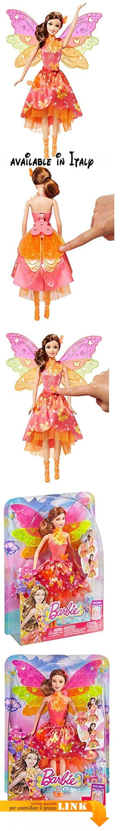 """Barbie CKN75 - Fatina Trasformazioni Magiche. Dal nuovo film """"Barbie e la porta segreta"""". Fata magica con ali meravigliose. Premendo un pulsante la bambola spiega le ali magicamente. La magica sirena indossa un'elegante collana e fermaglio per capelli abbinato che luccica in colori neon come l'intero outfit. Fatina magica e sirenetta insieme garantiscono un doppio divertimento #Giocattolo #TOYS_AND_GAMES"""