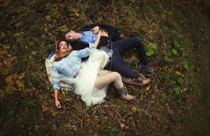 Couple on the ground photo