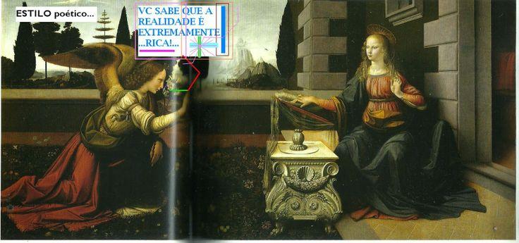 Como a historia mesmo contra um arcanjo sendo ele Gabriel anuncia a Maria que és a escolhida para ser a Mãe de Jesus. Embora acredita que seja a primeira obra de Leonardo da Vinci, exalto  com precisão a pintura representado pelo tapete de flores e as assas do arcanjo Gabriel deixa-nos todos maravilhados com a sua obra.