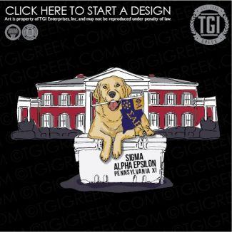 Sigma Alpha Epsilon | ΣΑΕ | SAE | Rush | Recruitment | Puppy | Fraternity Shirt | TGI Greek | Greek Apparel | Custom Apparel | Fraternity Tee Shirts | Fraternity T-shirts | Custom T-Shirts