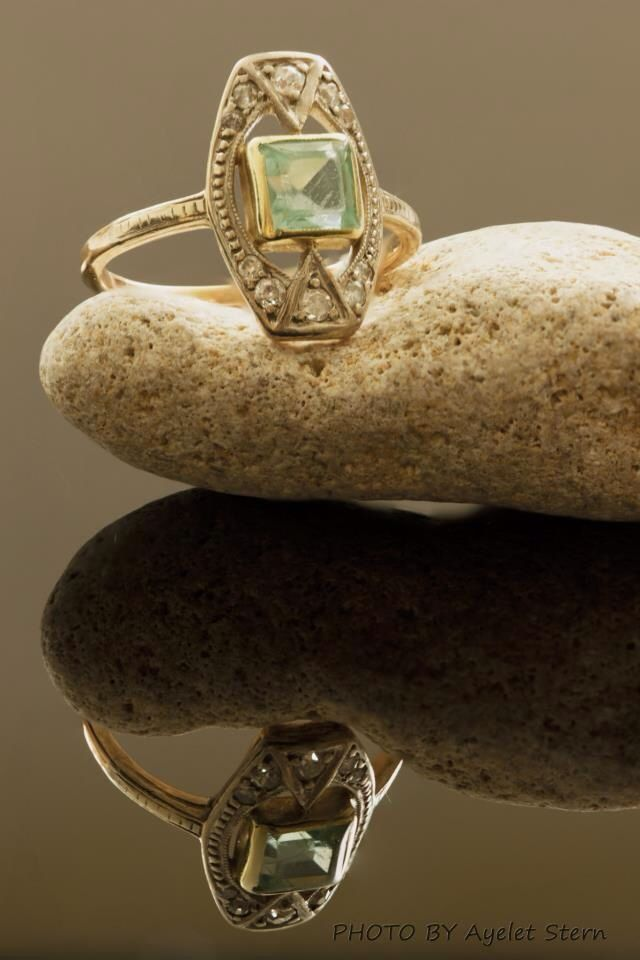 I could do this with my engagement ring on top of something organic (or at least contrasting in texture)