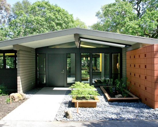 Pin by tanya on exterior space pinterest - Mid century modern exterior renovation ...