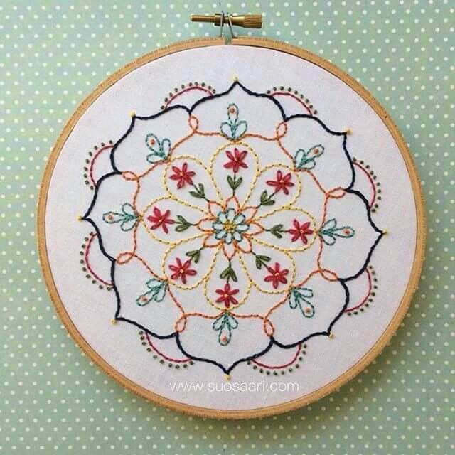 Embroidery, mandala