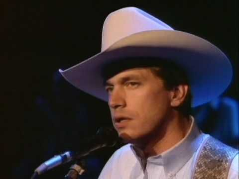 "▶ George Strait - Baby's Gotten Good At Goodbye - YouTube ""There were no tears in her eyes-!"""