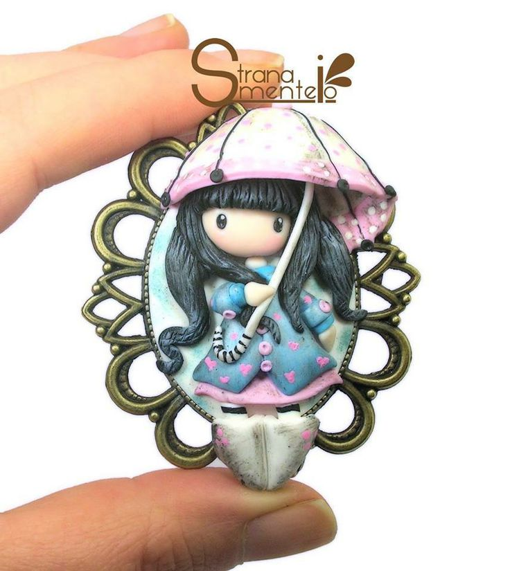 Inspired by Gorjuss - Polymer Clay -