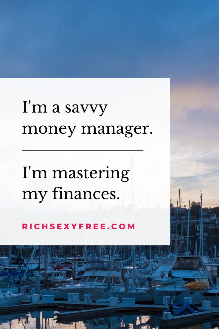 I'm A Savvy Money Manager, I'm Mastering My Finances | Wealth Quotes Mantras For Women Entrepreneur