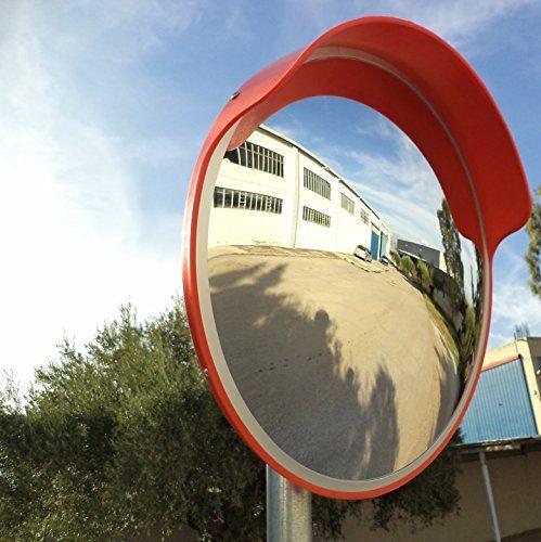 JCM-45o miroir convexe de la circulation, incassable, diamètre 45 cm, pour la sécurité routière et de la sécurité du magasin, avec support…