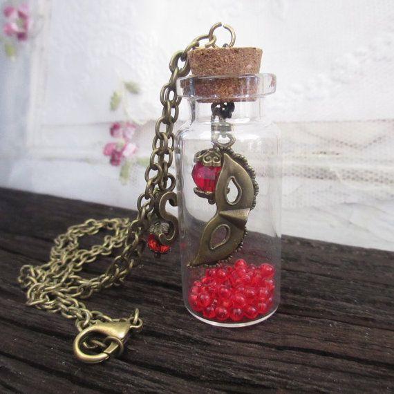 Jewelry Necklace Mask Glass Bottle Theatre by Rosebudbabydesigns