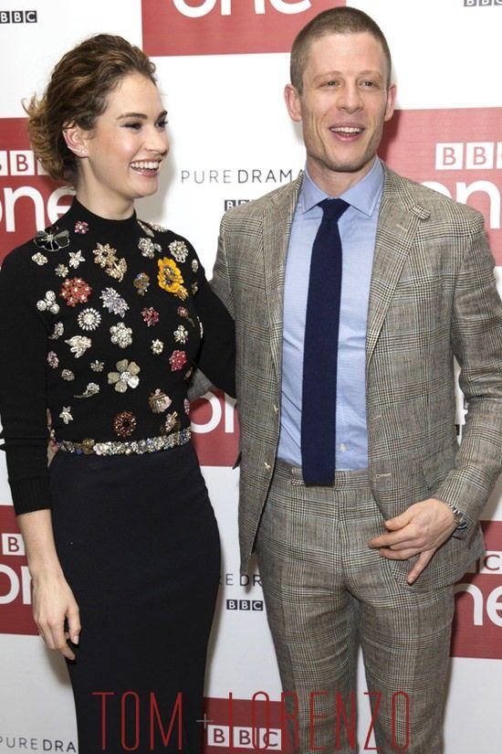 Lily-James-James-Norton-BBC-War-Peace-TV-Series-Photo-Call-Fashion-Alexander-McQueen-Tom-Lorenzo-Site (3)