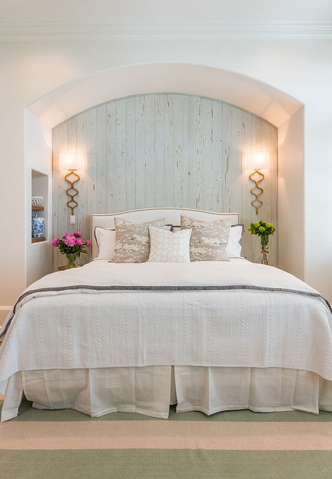 Wonderful Gorgeous Guest Bedroom With Pale Blue Cypress Wall And Gold Sconces. Wall  Sconces Are From