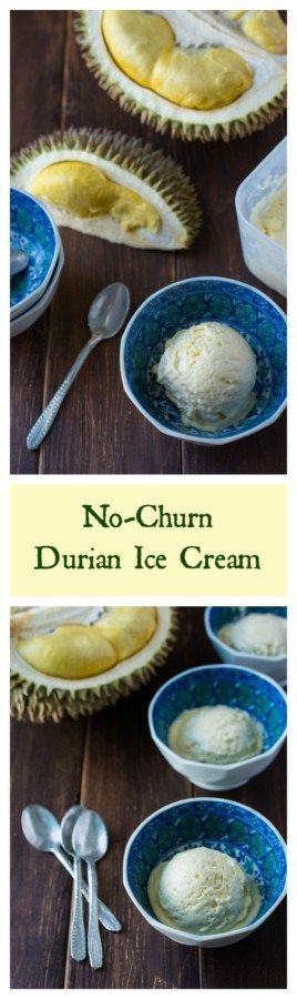 Creamy and delicious Durian Ice Cream. Only 4 ingredients; no ice cream maker…