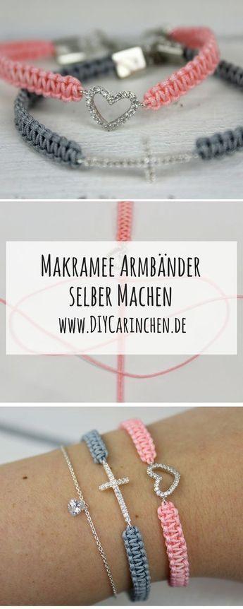 DIY Makramee Armbänder einfach selber knüpfen + ausführliche Anleitung