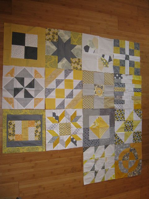 Farmers wife quilts blocks. I want to do a blue one, a pink one and and acid colours - one each for my mum and 2 sisters. Wouldn't it be a blast if I could give them at the same time!