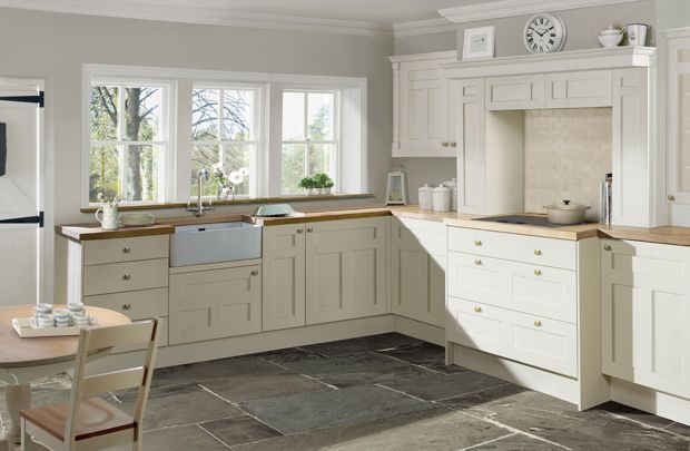 Tetbury Creamware Kitchen by Laura Ashley - love this kitchen, classy, vintage-looking and just how I want mine!! #LauraAshleySS14