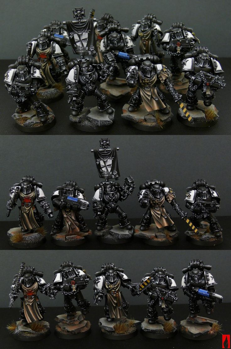 Things like this are what make me afraid to paint black armor... because I'd never be this good at it.