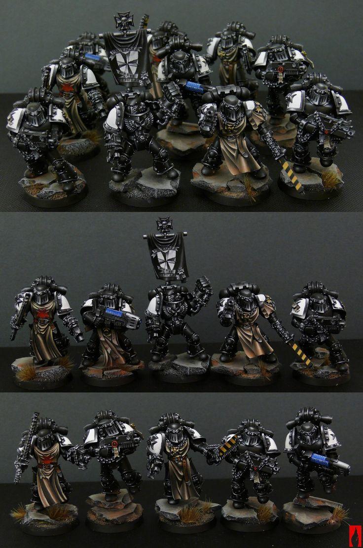 Neat looking space marines black Templar squad #warhammer #40k