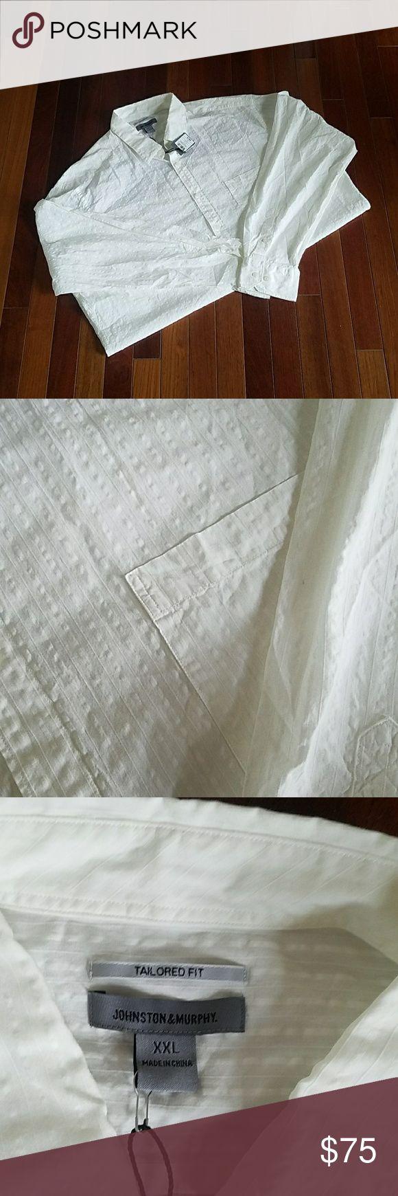 Men's button down shirt Johnson and Murphy white button down shirt size xxl Johnson and Murphy  Shirts