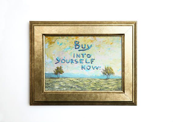 Quote painting Contemporary Art Original Artwork Office