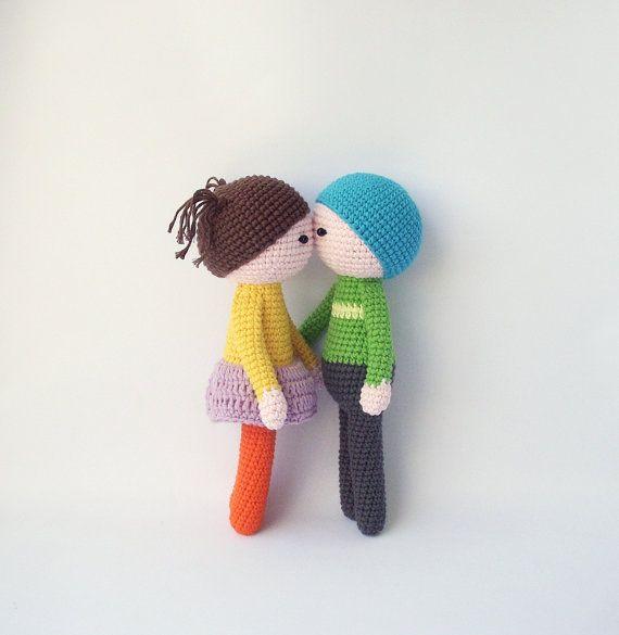 Просто Кукла Девочка и Мальчик Вязаные Куклы, девочка и Мальчик DIY