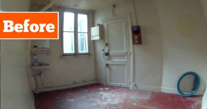 Amazing,This Clever Woman Transformed An Old Ultra Tiny Room Into A Completely Home
