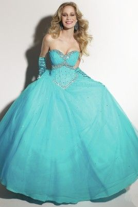 2012 Prom Dresses Ball Gown Sweetheart Floor Length Tulle Beaded