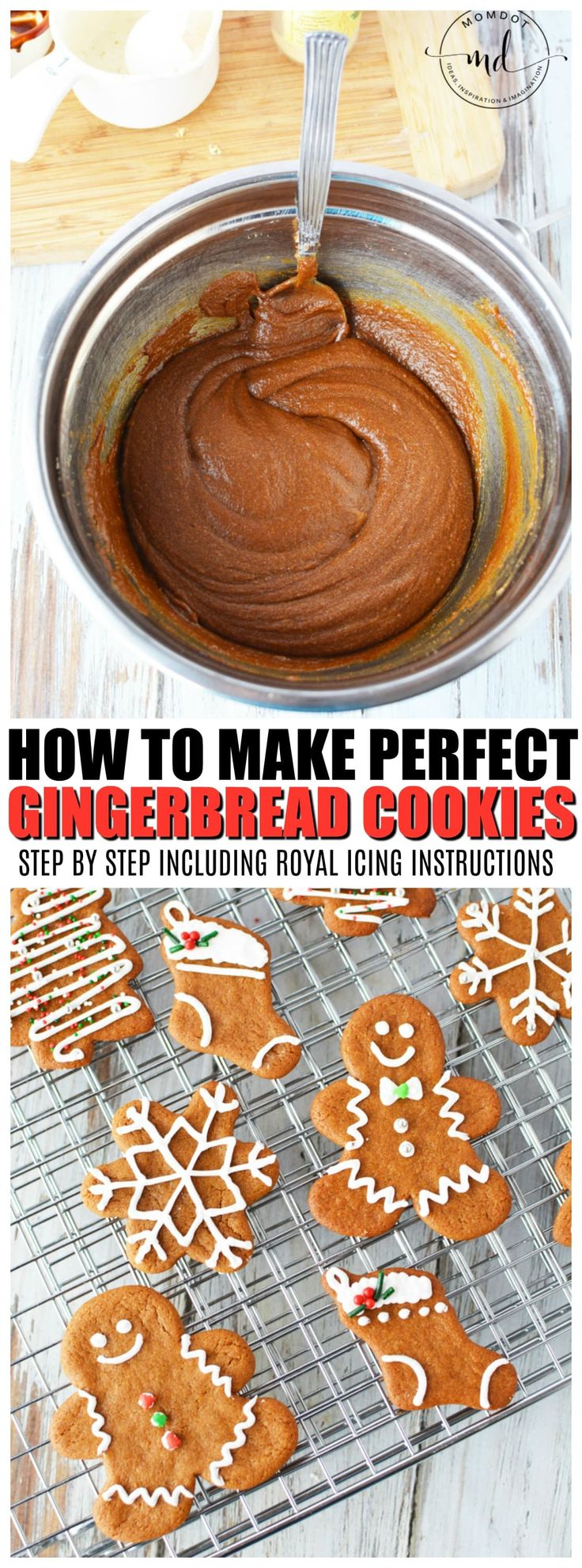 Easy Gingerbread Cookie Recipe | How to make Gingerbread Men Cookies #christmas #baking #cookies #holidays #christmascookies