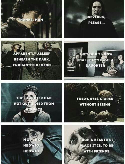 harry potter sad quotes