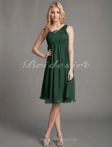 A-line Knee-length Straps Tulle Chiffon Bridesmaid Dress - $84.99