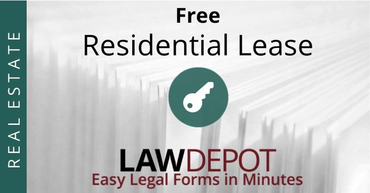 Customize, print, and download your free Residential Lease in minutes.