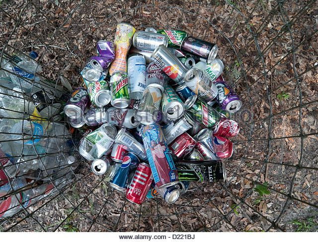 recycling and soda cans essay As the most valuable package in the bin, aluminum cans are, by far, the most  recycled beverage container the average can contains 70 percent recycled  metal.