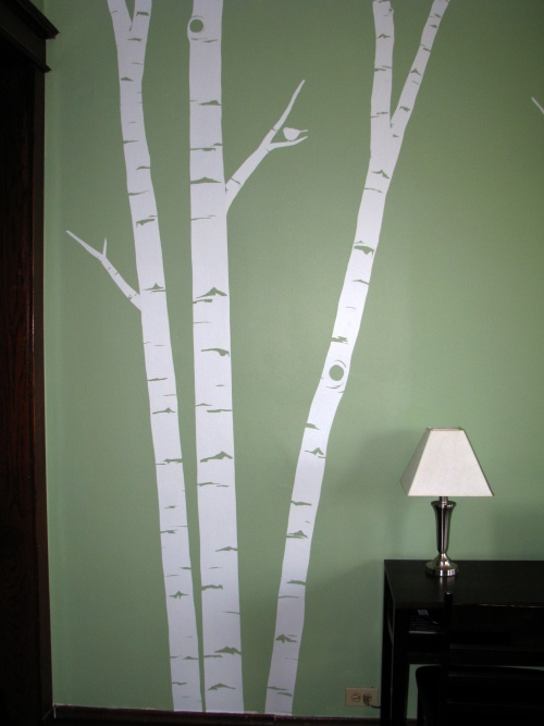 1000 images about birch tree wall decals on pinterest for Diy birch tree mural