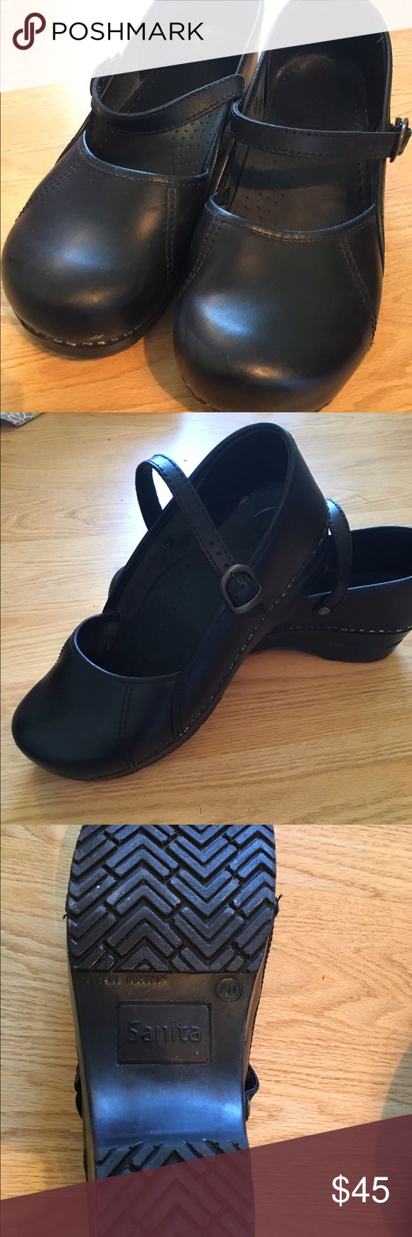Black Sanita Mary Jane's These black Sanita Mary Jane's are in excellent condition.  Just like my Dansko's, comfortable and cute. Sanita Shoes Mules & Clogs