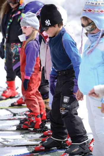 Learning to ski at on Mt Ruapehu