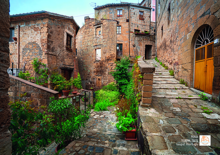 Pienza, Toskana, İtalya. Fotoğraf: İlhan Eroğlu.