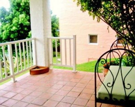 The Garden Cottage - Fully furnished one bedroom cottage with 2 single beds and a small TV area, a bathroom with shower and toilet, a kitchenette with microwave, fridge and stove/oven combination and a lounge. The lounge has a small dining area and a sleeper couch. The bedroom and lounge exit on a veranda with lovely views of the garden and forest. #knysna #where2stay