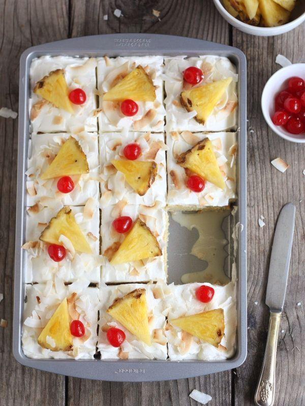 Paleo Tres Leches Pina Colada Cake
