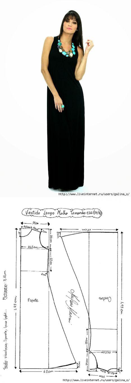 Трикотажное платье.Размеры 38-56.Выкройки...<3 Deniz <3