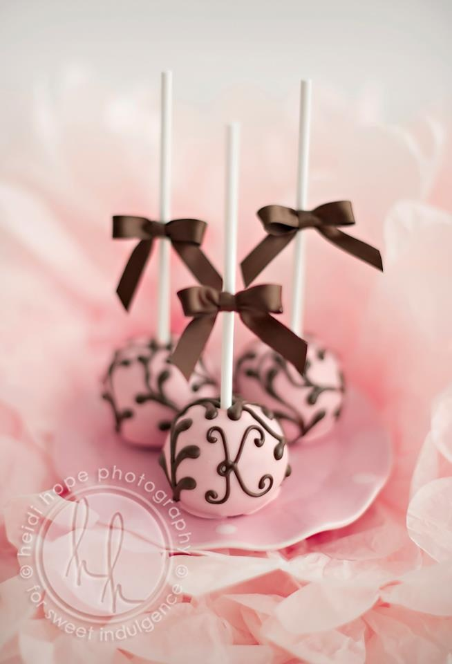 Monogrammed cake pops