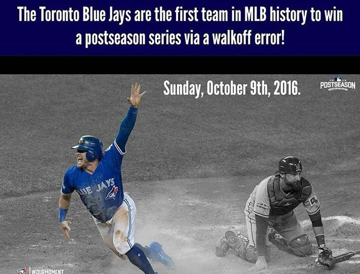 Walk off error. Toronto Blue Jays are advancing to the ALCS after Sweeping the Texas Rangers. Josh Donaldson. 2016 postseason. MLB. Baseball. Rougned Odor.