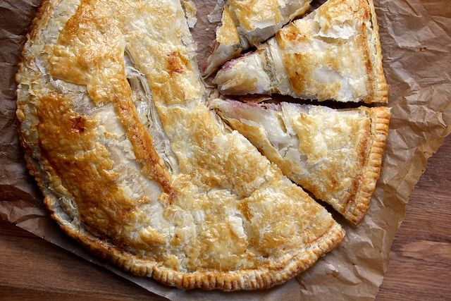 ham and cheese puff pastry pie by joy the baker, via Flickr
