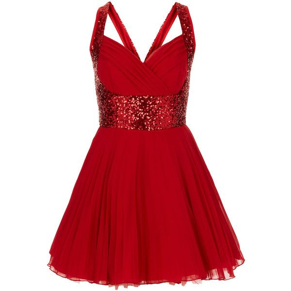 **Nina Sequin Dress by Jones and Jones ($120) ❤ liked on Polyvore