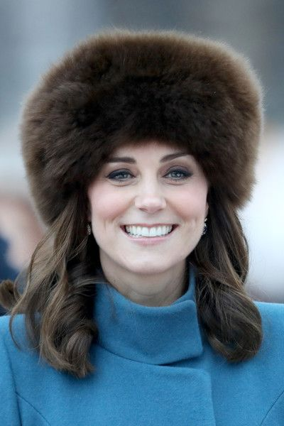 54e20fa8f18 Kate Middleton Fur Hat - Kate Middleton cut a luxurious figure wearing this  brown fur hat while touring Norway.
