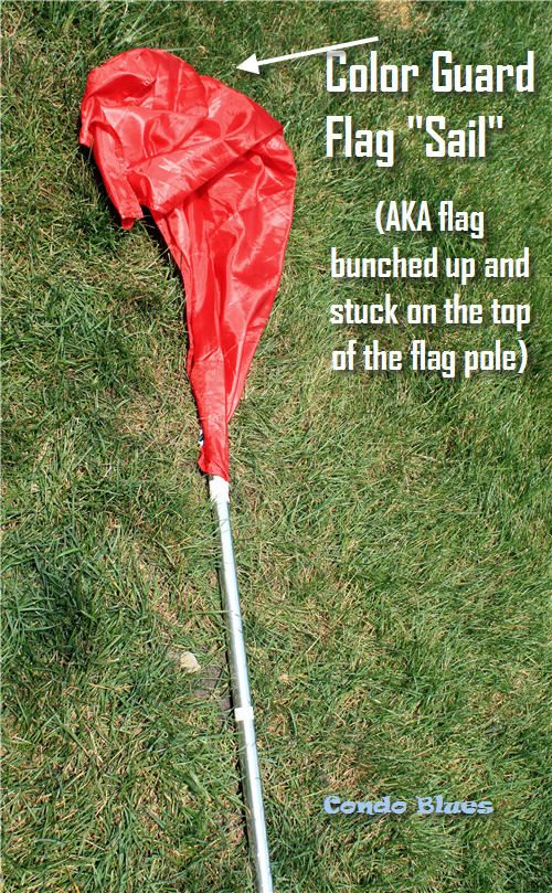 Condo Blues: How to Add Weights and Tape to a Color Guard Flag