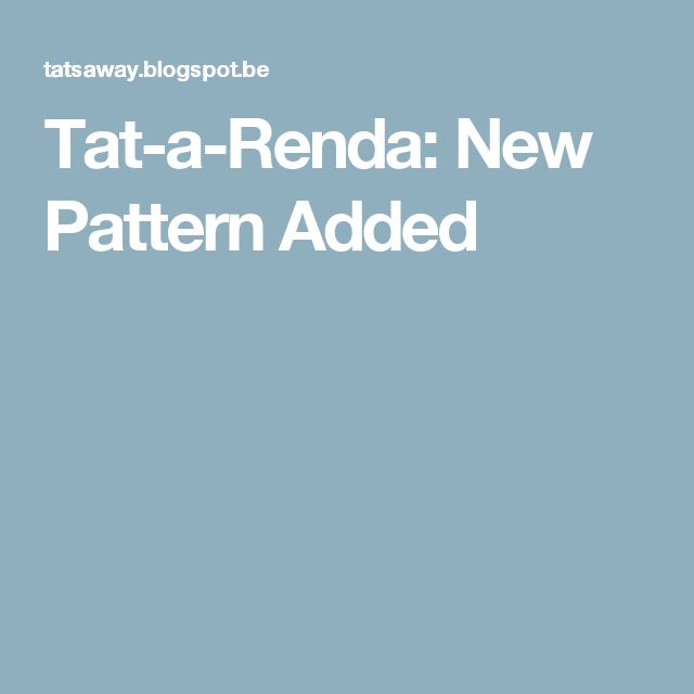 Tat-a-Renda: New Pattern Added