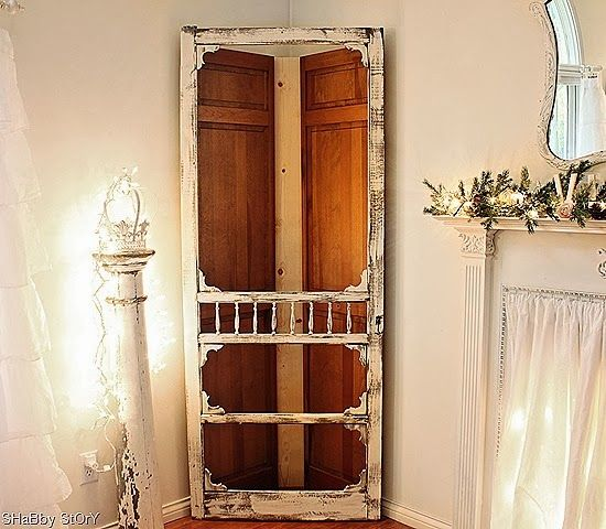 Corner Cabinet from Old Doors:  via  Shabby Story