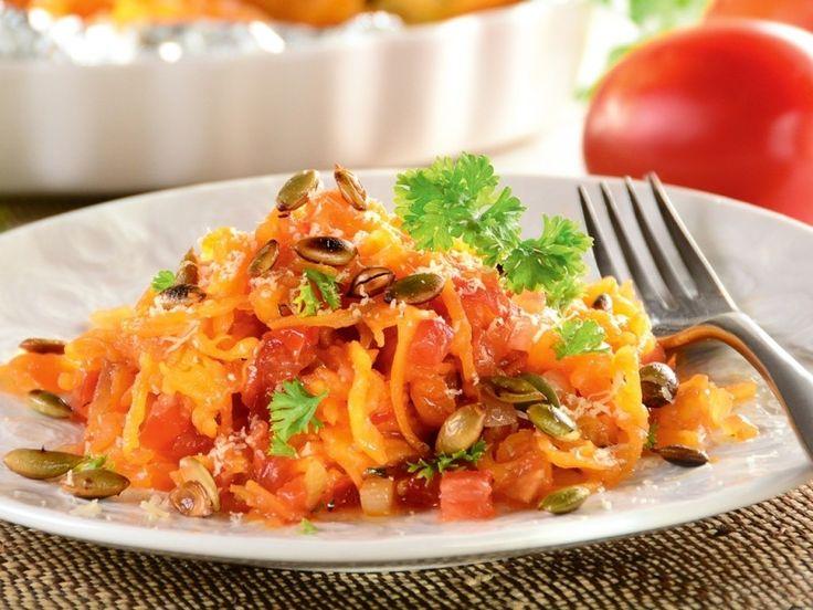 Spaghetti z dyni makaronowej