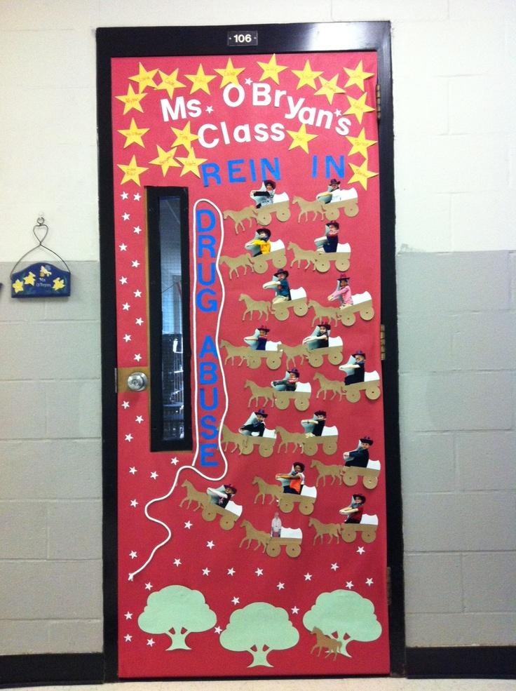Classroom Decorating Ideas Elementary ~ Red ribbon week door decorating inspiration
