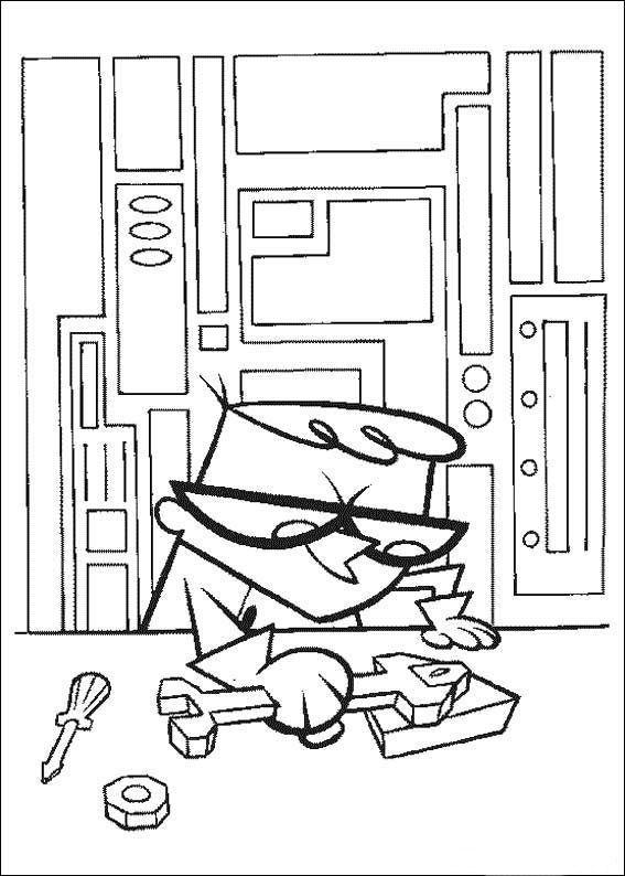 Dexter's Laboratory Coloring Pages 15