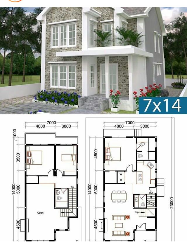 7mx14m House Floor Plan With Furniture Layout Indian House Plans House Floor Plans Design Your Dream House