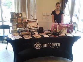 Jamberry vendor displays